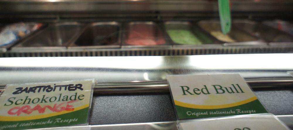 "Red Bull-Eis ""nach italienischem Original-Rezept"""