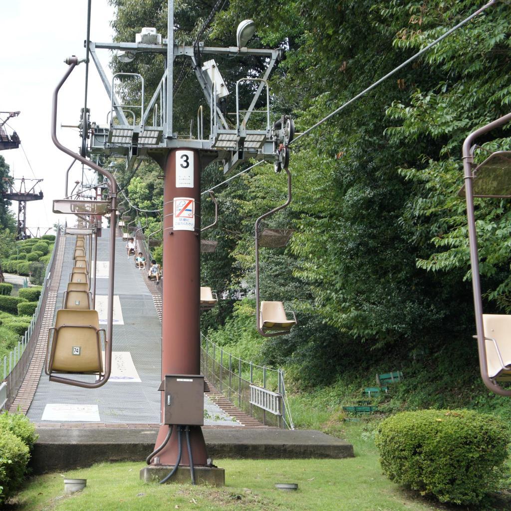 Sessellift den Katsuyama hinauf zur Burg
