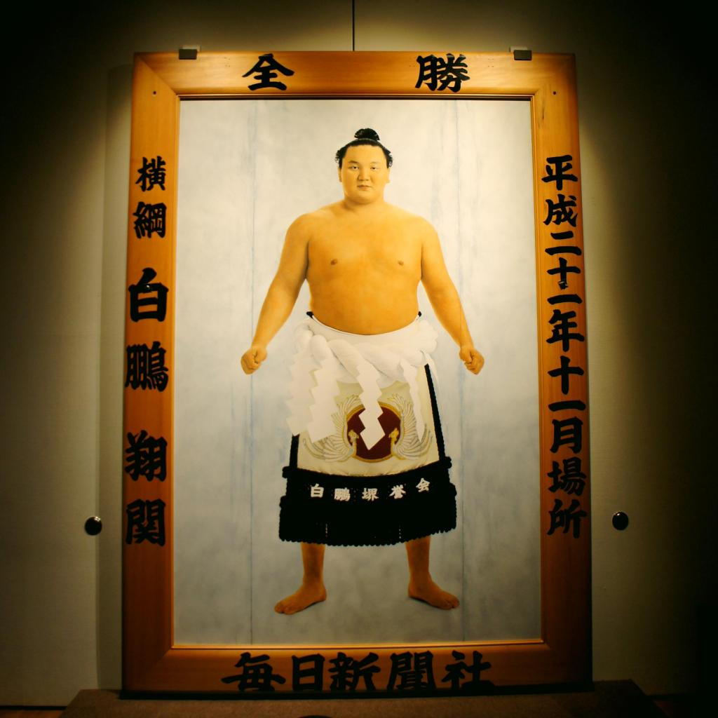 Grand Champion Hakuho Sho's November 2009 Tournament Winner's Portrait (Colored by Sato Suzue)